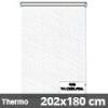 Hőszigetelő roló, Thermo, fehér csíkos, ablakra: 202x180 cm