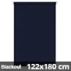 Blackout roló, sötétkék, ablakra: 122x180 cm
