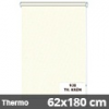 Hőszigetelő roló, Thermo, krém, ablakra: 62x180 cm