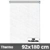 Hőszigetelő roló, Thermo, fehér csíkos, ablakra: 92x180 cm