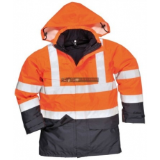 Portwest S779 HiVis multi-Protection kabát (NARANCS/NAVY M)
