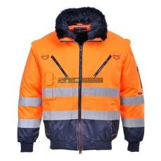 Portwest PJ50 Hi-Vis 3 az 1-ben Pilóta kabát (Narancs/Navy - 4XL )