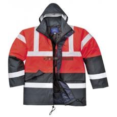 Portwest S466 Kontraszt Traffic kabát (PIROS/NAVY XXL)