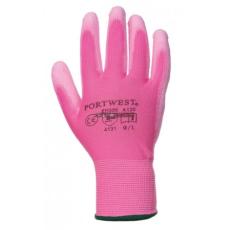 Portwest A120 Nylon PU tenyérmártott kesztyű (Pink, S)