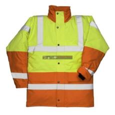 Portwest S466 Kontraszt Traffic kabát (SÁRGA/NARANCS M)