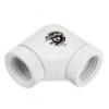 Bitspower adapter 90 ° forgatható, 2x G1 / 4inch, - fehér