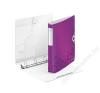 Leitz Gyűrűs könyv, 4 gyűrű, D alakú, 52 mm, A4, PP, LEITZ Active Wow lila (E42400062) gyűrűskönyv