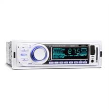 oneConcept MD-185, autórádió, MP3, USB, SD, FM, AUX, PRE-OUT, fehér autórádió