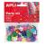 APLI Konfetti, metál, 13 mm, virágok, , vegyes színek