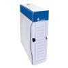 VICTORIA Archiváló doboz, A4, 80 mm, karton, , kék-fehér
