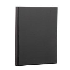PANTA PLAST Gyűrűs könyv, panorámás, 4 gyűrű, 25 mm, A4, PP/karton, , fekete mappa