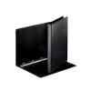 ESSELTE Gyűrűs könyv, panorámás, 4 gyűrű, 25 mm, A4, PP/PP, , fekete