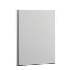 PANTA PLAST Gyűrűs könyv, panorámás, 4 gyűrű, 15 mm, A4, PP/karton, , fehér mappa