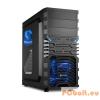 """Sharkoon VG4-W Window Black/Blue Black/Blue,3x5,25"""",3x3,5"""",ATX,Window,2xUsb,Audio,Táp nélkül,445x200x430mm,4x2,5"""",Ventillátor:2x12cm,2xUSB3.0"""