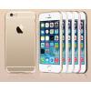 USAMS Apple iPhone 6 USAMS Slim 2in1 átlátszó szilikon TPU tok színes műanyag kerettel, arany
