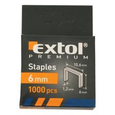 Extol Tűzőgépkapocs profi (10,6×0,52×1,2mm) ; 6mm, 1000db (Kapcsok) gemkapocs, tűzőkapocs