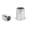 "Fortum Dugófej, 1/2"", 21mm, 61CrV5, mattkróm, 38mm hosszú (Dugófej)"
