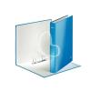 """Leitz Gyűrűs könyv, 2 gyűrű, D alakú, 40 mm, A4 Maxi, karton, lakkfényű, LEITZ """"Wow"""", kék"""