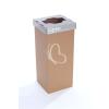 """ÖKUKA Szelektív hulladékgyűjtő, újrahasznosított, 60 l, RECOBIN """"Slim"""", szürke"""