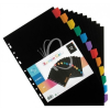 "VIQUEL Regiszter, műanyag, A4 Maxi, 12 részes, VIQUEL ""Rainbow Class"" fekete"