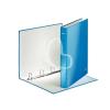 """Leitz Gyűrűs könyv, 4 gyűrű, D alakú, 40 mm, A4 Maxi, karton, lakkfényű, LEITZ """"Wow"""", kék"""