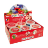 "APLI Gyurma, 480 g, APLI, ""Fun Dough"", display, alap színek"