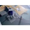 "RS OFFICE Székalátét, kemény felületre, E forma, 90x120 cm, RS OFFICE ""Roll-o-Grip"""