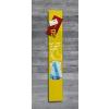 """SIGEL Mágneses üveg tábla, 12x78 cm, SIGEL """"Artverum® """", sárga"""