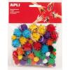 "APLI Pom-pom, csillogó, APLI ""Creative"", vegyes színek"