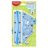 """MAPED Vonalzókészlet, kicsi, műanyag, hajlítható, 4 darabos, MAPED """"Flex"""""""