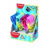 """MAPED Olló display, óvodai, 12 cm, balkezes, MAPED """"Vivo 3D"""", vegyes színek"""