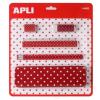 APLI Tolltartó szett, pöttyös, APLI, piros (LCA14023)