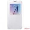 Samsung gyári Galaxy S6 bőr s-view cover tok,Fehér
