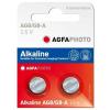 Agfaphoto alkáli gombelem LR55 AG8 (2db)