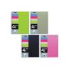 MQ Spirálfüzet MQ 4 Notebook A/5-4x25 lapos négyzetrácsos, PP, 47774-75-76-77