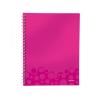 Leitz Spirálfüzet WOW, A4, vonalas, rózsaszín