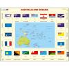 Larsen maxi puzzle 35 db-os Ausztália és Óceánia térkép és zászlók KL5