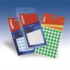 APLI Etikett, 8 mm kör, kézzel írható, színes, , neon zöld, 288 etikett/csomag