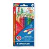 STAEDTLER Színes ceruza készlet, hatszögletű, vastag, ajándék varázsceruzával, STAEDTLER Noris Club Jumbo, 12+1 különböző szín (TS144SET3)