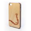 CreatiWood iPhone 4/4S népi mintás hátlap nyárfa/padauk fából