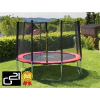 G21 trambulin biztonsági hálóval, 305cm, piros