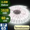 LED szalag kültéri (3528-060-FN) - term. fehér, Dekor, 5 méter!