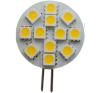 Life Light Led Led G4 kör égő, 12 SMD led, 5050 chip, 2,4W, 180 Lumen, meleg fehér Life Light Led villanyszerelés