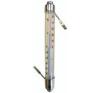 Hőmérő kültéri üveg+fém falióra