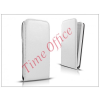 Haffner Slim Flexi Flip bőrtok - Samsung SM-G920 Galaxy S6 - fehér