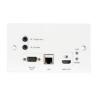 Triax ORX 1V Ethernet-HDMI vevő előlapi; Receiver Outlet Plate with HDBaeT 5 Play kábel és adapter