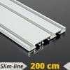 Alumínium függönysín (alu. szín) - 3 sor - 200 cm