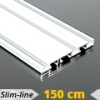 Alumínium függönysín (fehér) - 3 sor - 150 cm