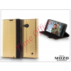 Mozo Nokia Lumia 640 flipes tok - Mozo Book Case - gold
