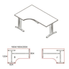 GA-160/120-J-LUX íróasztal